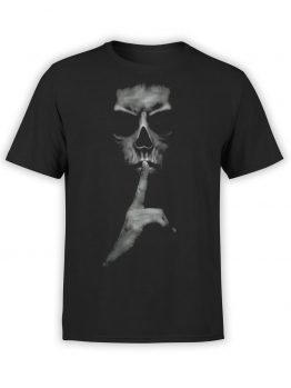 """Horror T-Shirts """"Be Silent""""."""