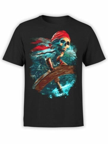 0068 Pirates of the Caribbean T Shirt Helmsman Front