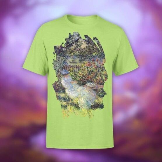 "Art T-Shirts ""Claude Monet. Alice in the Garden"". Shirts."