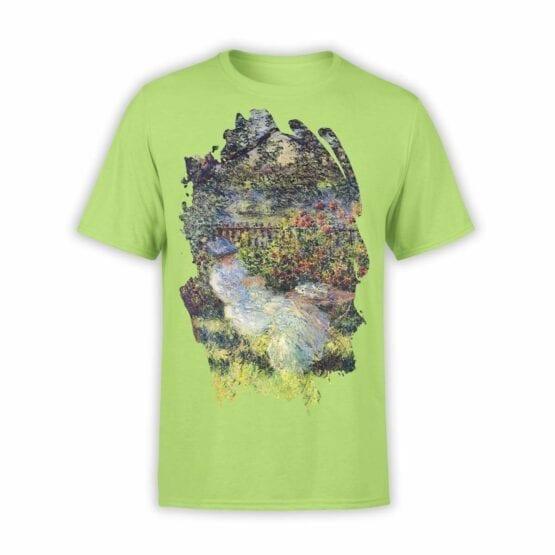"Art T-Shirts ""Claude Monet. Alice in the Garden"". Mens Shirts."