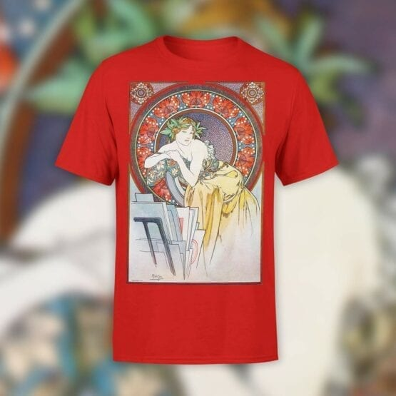 "Art T-Shirts ""Alphonse Mucha. Art Nouveau Muse"". Shirts."