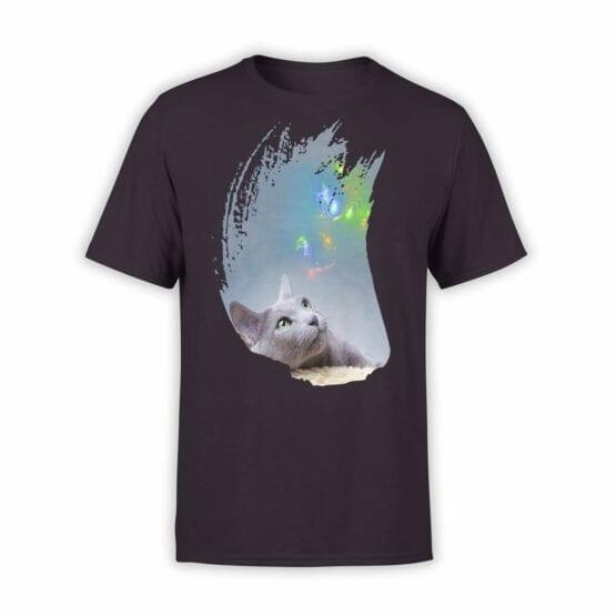 """Cat Shirts """"Thoughts"""". Mens Shirts."""