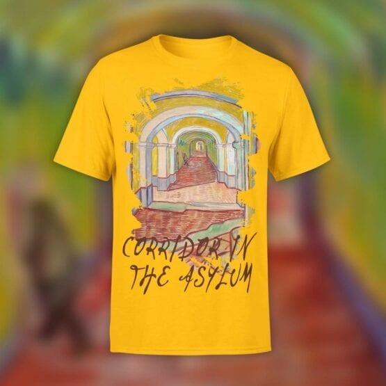 "Van Gogh T-Shirt ""Corridor In The Asylum"". Shirts."