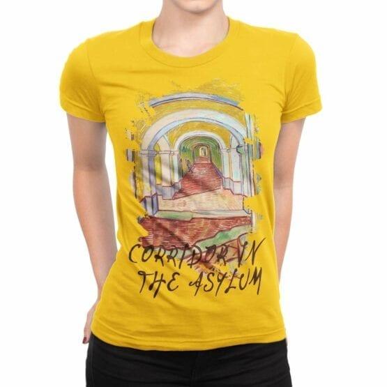 "Van Gogh T-Shirt ""Corridor In The Asylum"". Womens Shirts."