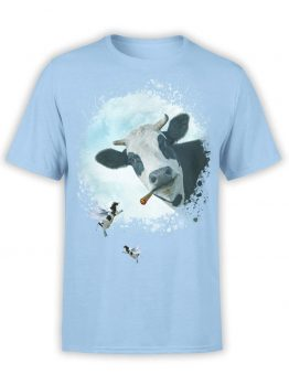 "Cow T-Shirts ""Go Vegan Bro"". Mens Shirts."