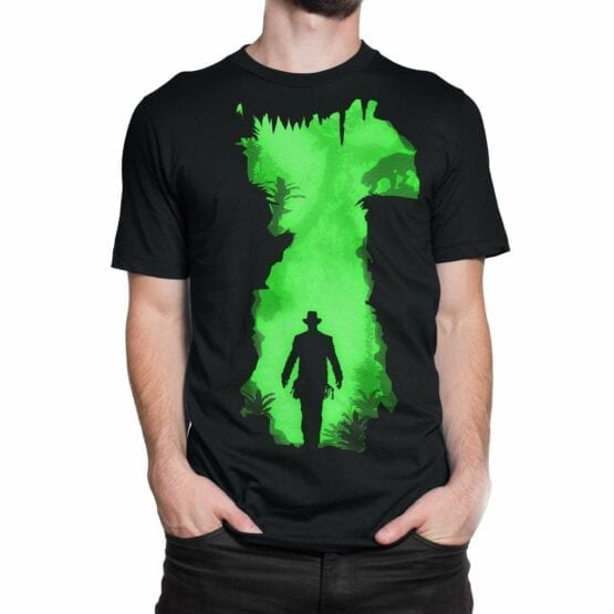 "Indiana Jones T-Shirt ""Danger"". Mens Shirts."