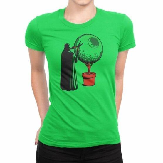 "Star Wars T-Shirt ""Darth Grass"". Womens Shirts."