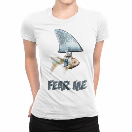 "Funny T-Shirt ""Fear Me"". Womens Shirts."