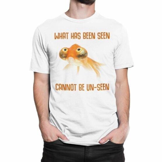 """Funny T-Shirts """"Fish"""". Mens Shirts."""