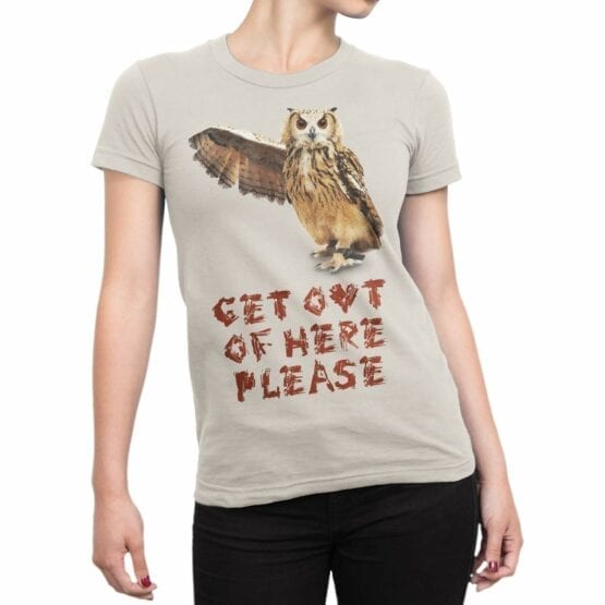 "Owl T-Shirt ""Get Out"". Shirts."