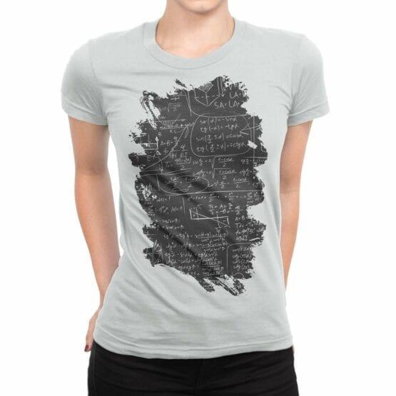 """Math T-Shirts """"I Love Math"""". Womens Shirts."""