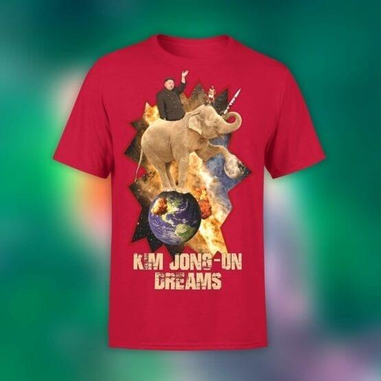 "Funny T-Shirts ""Kim Jong Un"". Mens Shirts."