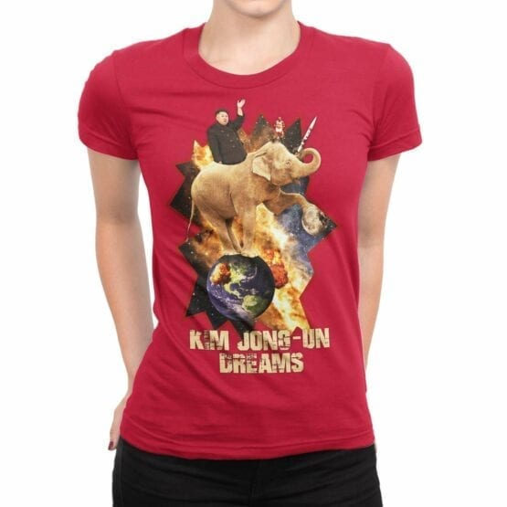 "Funny T-Shirts ""Kim Jong Un"". Womens Shirts."