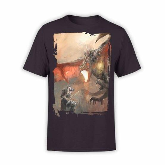 """Dragon T-Shirt """"Knights and Dragons"""". Mens Shirts."""