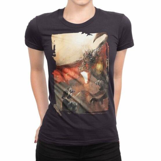 """Dragon T-Shirt """"Knights and Dragons"""". Womens Shirts."""
