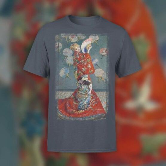 """Art T-Shirts """"Claude Monet. La Japonaise"""". Shirts."""
