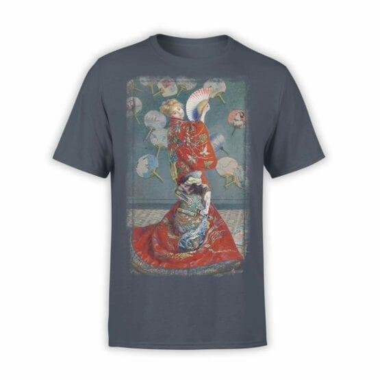 """Art T-Shirts """"Claude Monet. La Japonaise"""". Mens Shirts."""