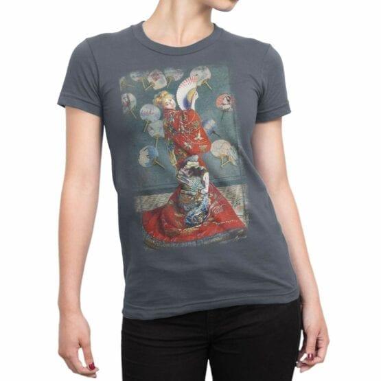 """Art T-Shirts """"Claude Monet. La Japonaise"""". Womens Shirts."""