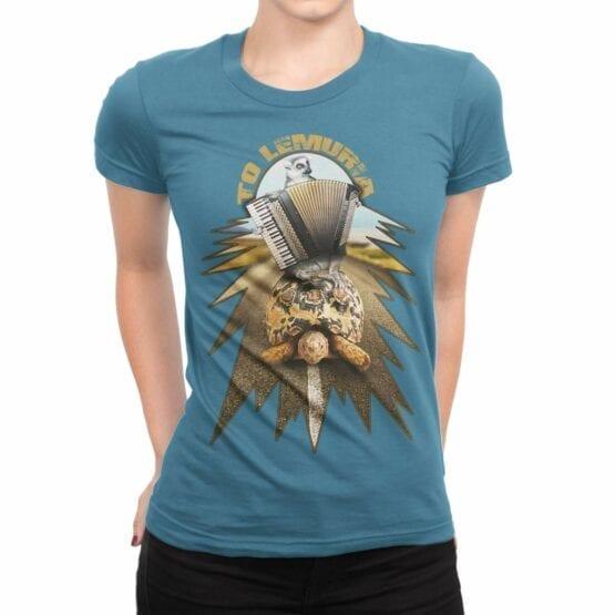 "Funny T-Shirts ""Lemuria"". Womens Shirts."