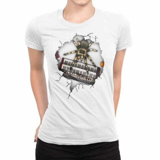 "Funny Shirts ""Musical Spider"". Womens Shirts."
