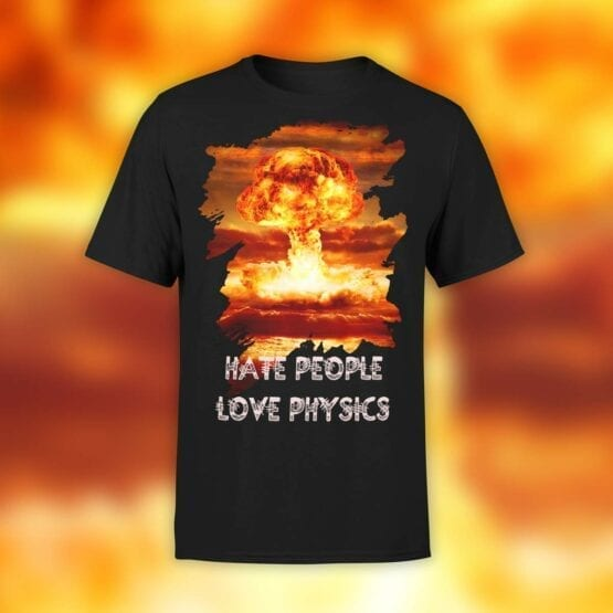 "Physics T-Shirts ""Nuclear"". Mens Shirts."