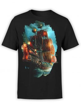 "Pirate T-Shirt ""Helmsman"". Mens Shirts."