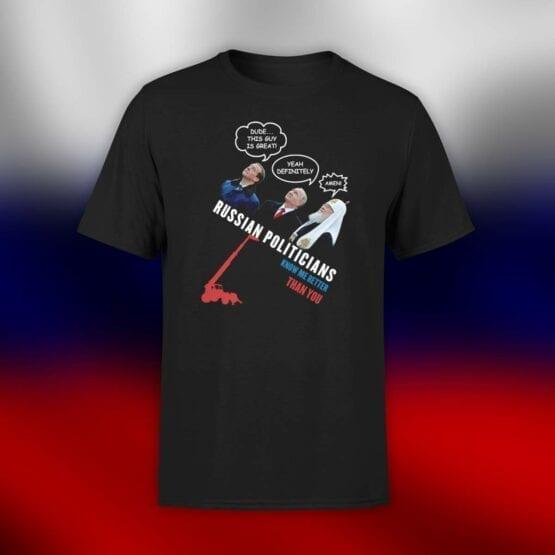 "Funny Shirts ""Russian Politicians"". Shirts."