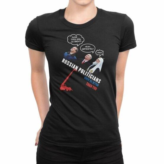 "Funny Shirts ""Russian Politicians"". Womens Shirts."