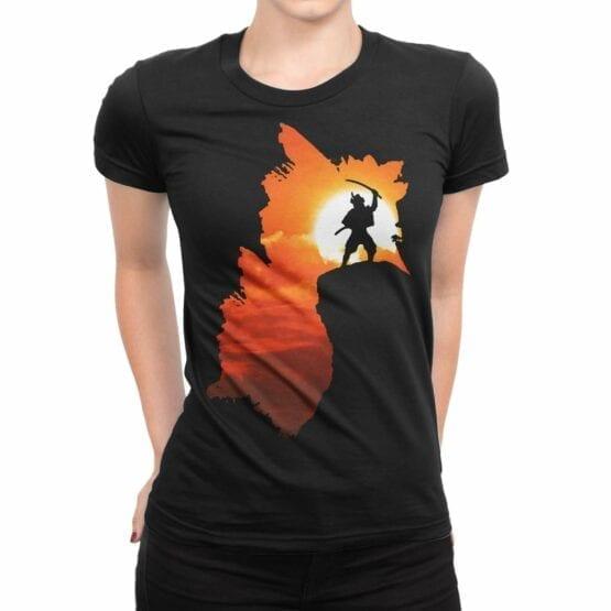 "Cool T-Shirts ""Samurai"". Womens Shirts."