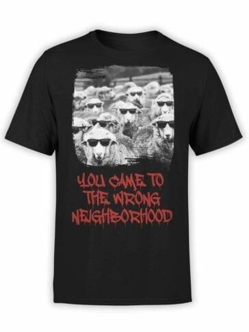 """Funny T-Shirts """"Sheep Gang"""". Mens Shirts."""