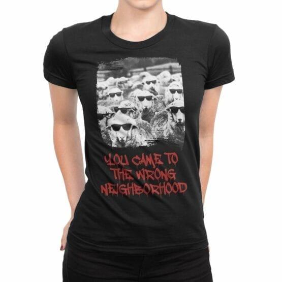 "Funny T-Shirts ""Sheep Gang"". Womens Shirts."