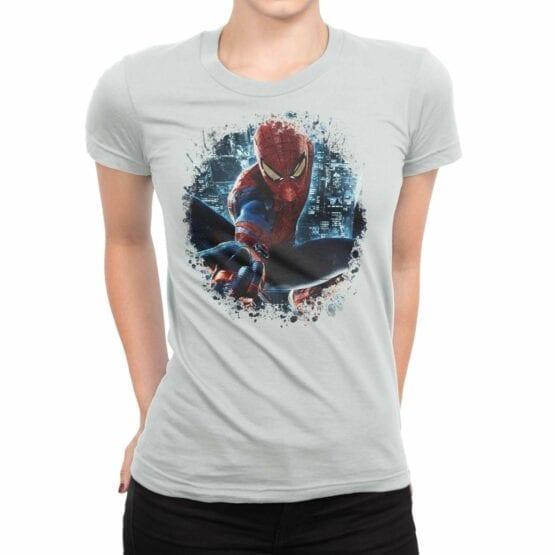 "Spiderman T-Shirt ""City"". Womens Shirts."