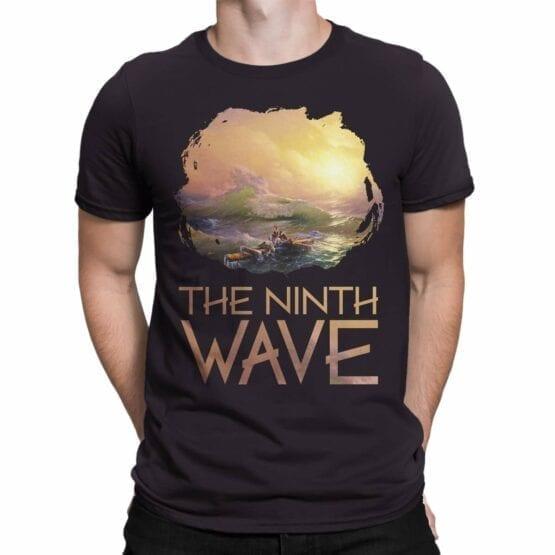 "Art T-Shirts ""Aivazovsky. The Ninth Wave"". Mens Shirts."
