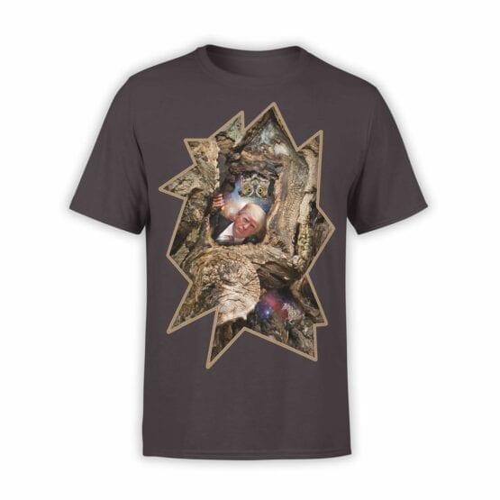 "Funny T-Shirts ""Trump and Owl"". Mens Shirts."