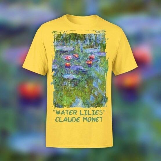 """Art T-Shirts """"Claude Monet. Water Lilies"""". Shirts."""