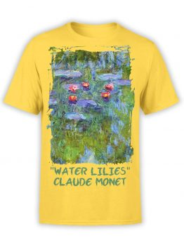 "Art T-Shirts ""Claude Monet. Water Lilies"". Mens Shirts."