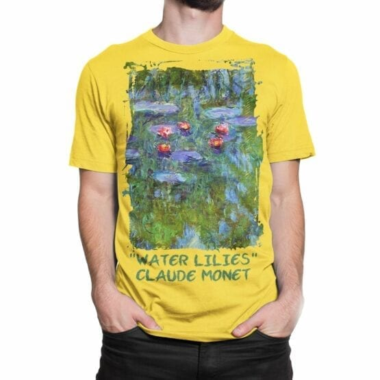 "Art T-Shirts ""Claude Monet. Water Lilies"". Mens Shirts."