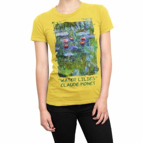 """Art T-Shirts """"Claude Monet. Water Lilies"""". Womens Shirts."""