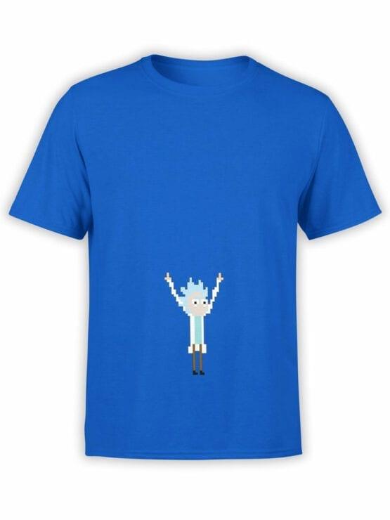 0123 Rick and Morty T Shirt Pixel Rick Front