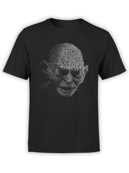 0134 Lord of the Rings T Shirt Gollum Front