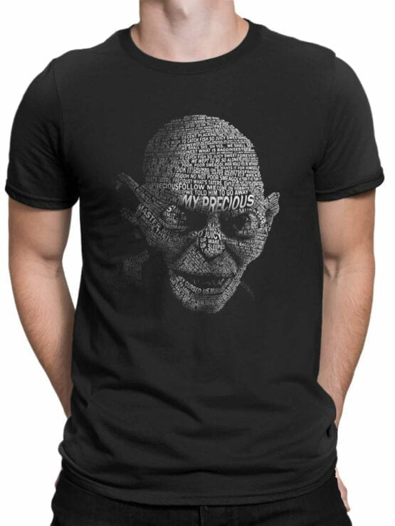 0134 Lord of the Rings T Shirt Gollum Front Man
