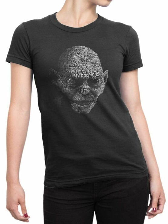 0134 Lord of the Rings T Shirt Gollum Front Woman