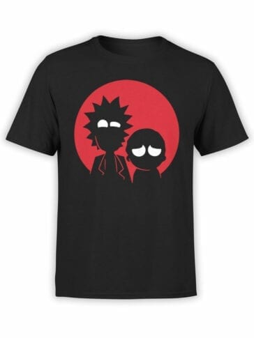 0137 Rick and Morty T Shirt Red Front