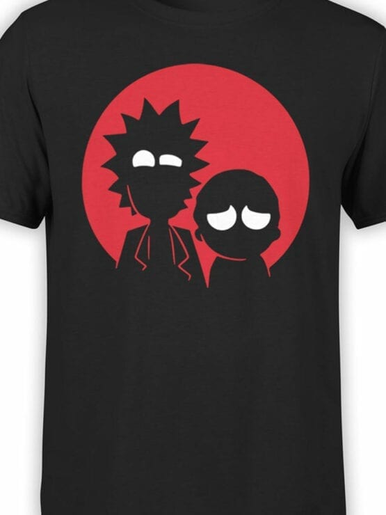 0137 Rick and Morty T Shirt Red Front Color