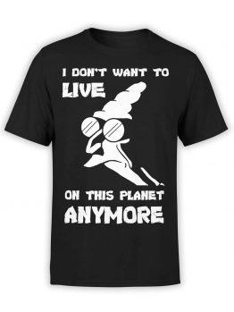 "Futurama T-Shirts ""Don't Want to Live"". Mens Shirts."