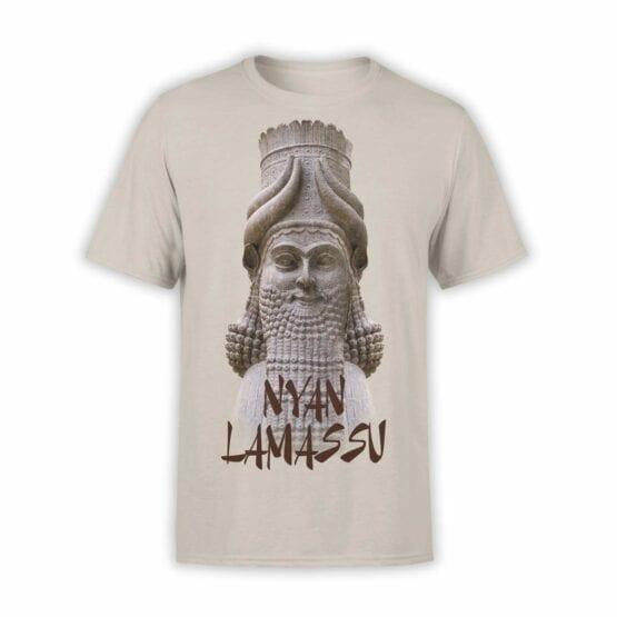"""Cool T-Shirts """"Nyan Lamassu"""". Mens Shirts."""