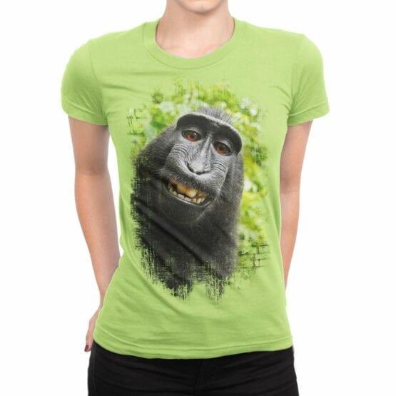 """Cool T-Shirts """"Monkey"""". Womens Shirts."""