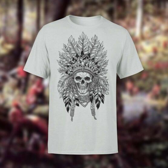 "Skull T-Shirt ""Indian"". Shirts."
