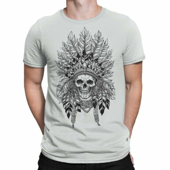 """Skull T-Shirt """"Indian"""". Mens Shirts."""