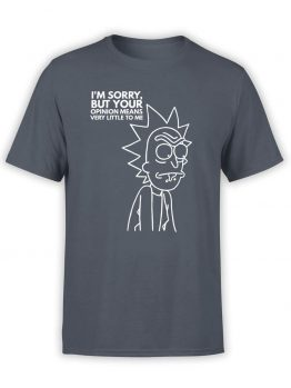 "Rick and Morty T-Shirt ""Sorry"". Mens Shirts."